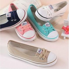 2014 New women fashion casual shallow mouth flat shoes canvas Classic sneakers