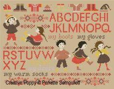 Perrette Samouiloff - Getting dressed (cross stitch chart)