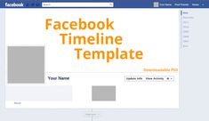 Facebook Timeline Template With Downloadable PSD