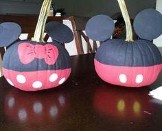 Mickey and Minnie pumpkins