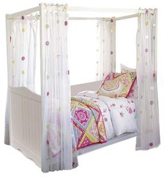 little girl canopy bed  So cute even for big girls!