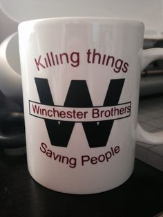Winchester Brothers coffee mug  on Etsy, $12.00 Supernatural mug  #supernatural