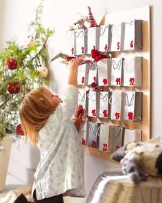 I love this idea--the way they did an Advent Calendar. So going to do this next year for my g-kid!