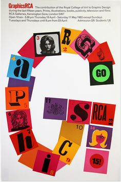GraphicsRCA: Fifty Years. Poster, 1963. Via Design Observer.