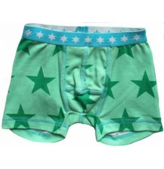 Green Cotton UA Μποξεράκι από 100% Οργανικό Βαμβάκι με Αστεράκια Green Cotton, Boxer, Trunks, Gym Shorts Womens, Underwear, Swimming, Swimwear, Fashion, Drift Wood