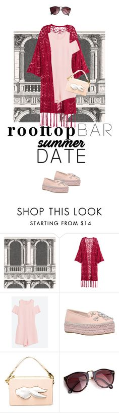 """""""Rooftop bar summer date"""" by natyleygam ❤ liked on Polyvore featuring Fornasetti, Carvela, Andres Gallardo, summerdate and rooftopbar"""