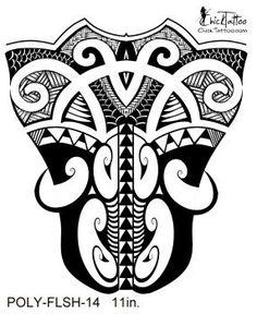 ChickTattoo.. Maori Style Leg Flash Tattoo Design