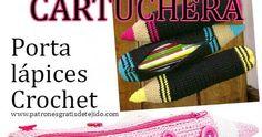 Cómo tejer una cartuchera o porta lápices con forma de lápiz. Video tutorial crochet