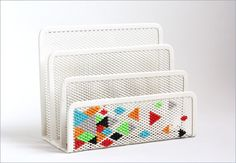 Creative: Eleven Things To Make For Your Mum  (Adorable Cross-Stitched Letter Sorter via Small Good Things)