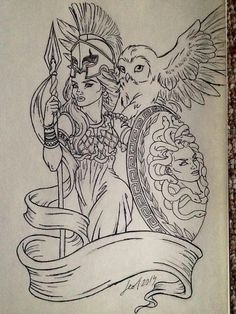 Athena>> I don't like the pouty model face but other than that I like it Greek Goddess Tattoo, Greek Mythology Tattoos, Greek Mythology Art, Medusa Tattoo, Athena Tattoo, Body Art Tattoos, New Tattoos, Sleeve Tattoos, Gott Tattoos