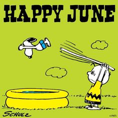 Happy June - Snoopy Diving Into Pool From Diving Board Held by Charlie Brown… Snoopy Love, Snoopy And Woodstock, Peanuts Cartoon, Peanuts Snoopy, Peanuts Comics, Mickey Mouse, Snoopy Pictures, Random Pictures, Pretty Pictures