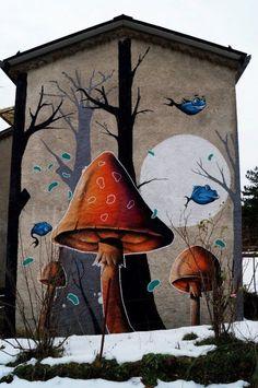 Must set up street art board! DMS, world's best street art, urban art, graffiti… Urban Street Art, Best Street Art, 3d Street Art, Amazing Street Art, Street Artists, Graffiti Artists, Graffiti Quotes, Graffiti Murals, Wall Street
