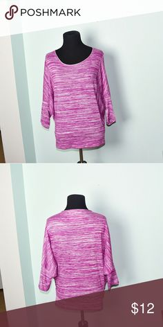 Beautiful Pink Butterfly Sleeve Blouse In excellent condition! Very comfortable, lightweight, and flattering! This is a size XS but fits like a regular small. Buy 3 items and get 1 free plus 15% off your purchase total! Tops Blouses
