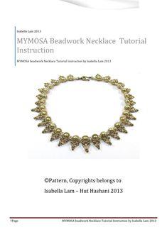 MYMOSA Swarovski Pearls and SuperDuo Beadwork Necklace par bead4me