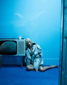 Out of the Blue - Miu Miu coat, Falke socks-Wmag