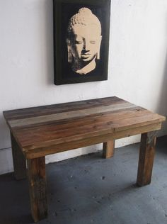 Beautiful Rustic Modern Dining Table. Building a couple of these with my dad!!