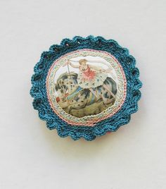 Circus Horse Rider Pin by pompom design