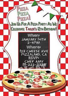 PIZZA-PARTY-INVITATION-Pizza-Birthday-Party-Invite-Pizza-Party-Invite #pizzaparty #pizzabirthday