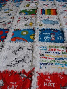 anna!!!  this has your name all over it...Cat in the Hat Rag Quilt