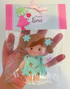 Lembrancinhas Maternidade Chaveiro bonecas com 11 cm cada. Embaladas! Artes em Feltros By Juliana Cwikla