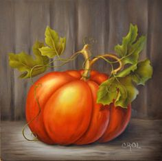 painted stacked pumpkins with bittersweet Fall Canvas Painting, Autumn Painting, Autumn Art, Tole Painting, Pumpkin Canvas, Pumpkin Art, Fall Wood Crafts, Tole Decorative Paintings, Ecole Art