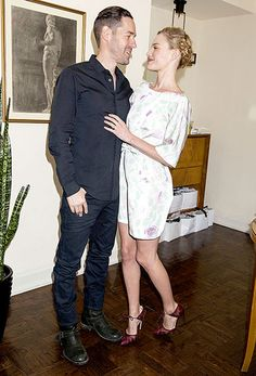 Kate Bosworth cozied up to husband Michael Polish at the launch bash for her new app, Style Thief. Love her braid!