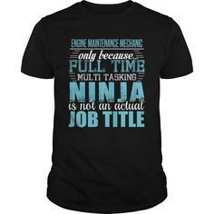(Top Tshirt Fashion) ENGINE MAINTENANCE MECHANIC Ninja T-shirt [Tshirt design] Hoodies, Funny Tee Shirts