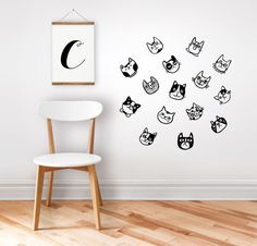 Wall decal / wall sticker cats / home decor / nursery decor / removable sticker