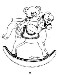 baby quilt patterns embroidery patterns embroidery art carousel horses rocking horses baby quilts coloring pages colouring clip art - Baby Rocking Horse Coloring Pages