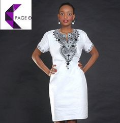 Ladies Embroidered Dress African clothes African by PageUk on Etsy