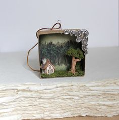 Clay+Cottage+Miniature+Shadowbox+Fairy+Tale+by+TheLittleGreyRabbit