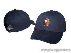 Bape Baseball Caps Hats Navy Blue