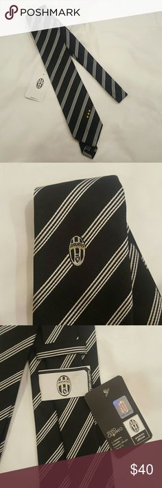 Classy Juventus tie Brand new with tags, official merchandise. Classic tie.  Measures about 60inches long, and 3inches at thickest width. juventus Accessories Ties