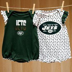 Jets Baby Girl Polka Fan 2PK Creepers