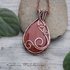 Pendant with carnelian | by galinapisareva