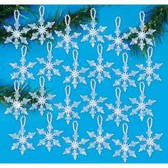 Mary Maxim - Mini Snowflakes - Beaded Kits & Ornaments - Crafts