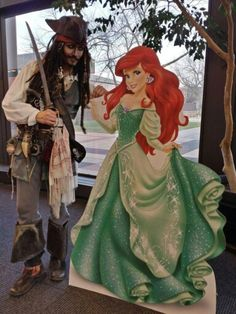 Ariel and Jack, the perfect couple! Jack Sparrow, Perfect Couple, Ariel, Disney Characters, Fictional Characters, Humor, Disney Princess, Couples, Humour