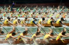 Credit: Samuel Chan Dragon boat race by Samuel Chan, a winner in the open shortlist – split second category-Sony World Photography awards