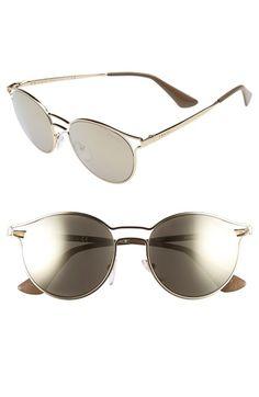 e07426c26c8 Main Image - Prada 53mm Round Sunglasses Latest Sunglasses