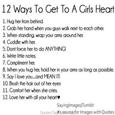 1,000,000 Quotes App for Instagram /// twelve ways girls heart love boys relationships cute  Quote - QuotesTags.com