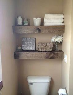 DIY Shelves Easy DIY Floating Shelves for bathroom,bedroom,kitchen,closet DIY bookshelves and Home Decor Ideas - Rustic Home Decor Diy Wooden Floating Shelves, Floating Shelves Bathroom, Rustic Shelves, Glass Shelves, Kitchen Shelves, Country Shelves, Floating Stairs, Floating Mantle, Rustic Bathroom Shelves