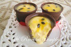 Só Receitas Simples: Mousse de Maracujá no Copinho de Chocolate