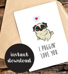 Funny Love You Card  Printable Funny Valentines by TheLittlePiper