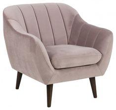 #homedecor #interiordesign #decoration #design #pink #velvet Retro Stil, Lounge, Tub Chair, Dusty Rose, Accent Chairs, Armchair, Relax, Living Room, Interior Design