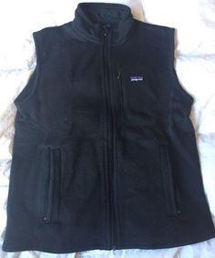 Patagonia Black Vest Men's Sz M | eBay