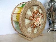 Мастер-класс Поделка изделие Моделирование конструирование Чайное колесо Картон Клей Салфетки фото 1