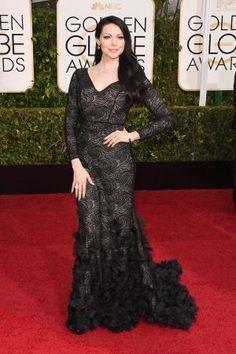 Golden Globes 2015 fashion - Laura Prepon in Christian Siriano.jpg