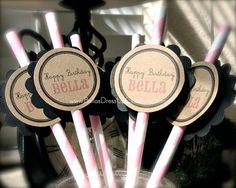 12 Pack Happy Birthday Personalized Party by BellasDressUpCloset, $12.95