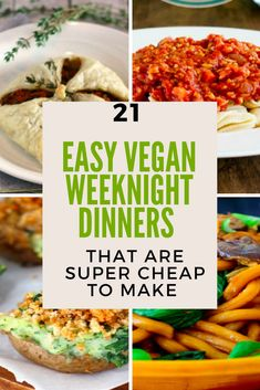 Image of cheap vegan weeknight dinner recipes