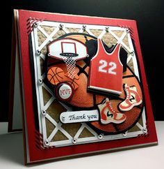 3 Basketball Thank You Cards